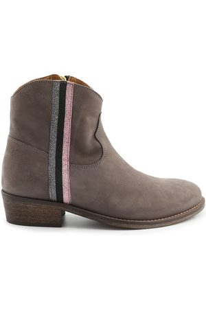 Via Roma WOMEN'S 3061GREY GREY LEATHER ANKLE BOOTS