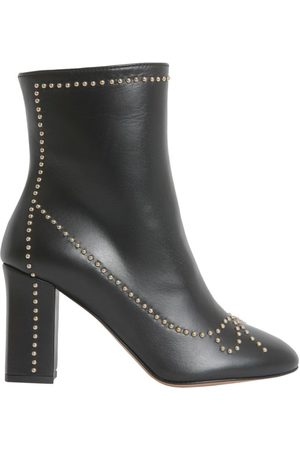 Moschino WOMEN'S 610180040555 LEATHER ANKLE BOOTS