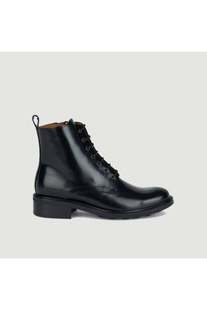 ANTHOLOGY PARIS 7426 polido leather lace up ankle boots Polido noir