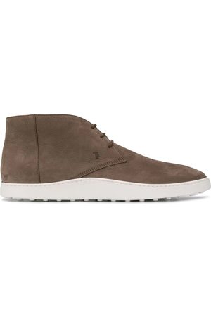 Tod's MEN'S XXM52B0AW506RNS413 GREY SUEDE ANKLE BOOTS