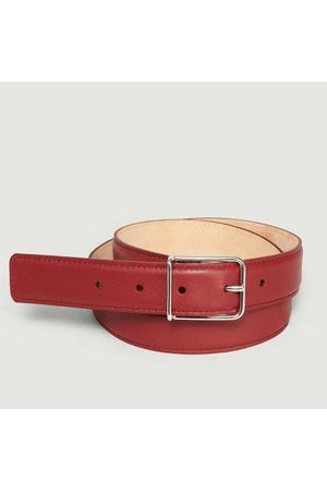 MAISON BOINET Leather Belt Carmin