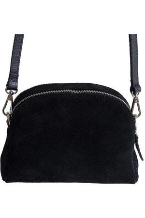 Fioriblu Viola Black Suede Handbag