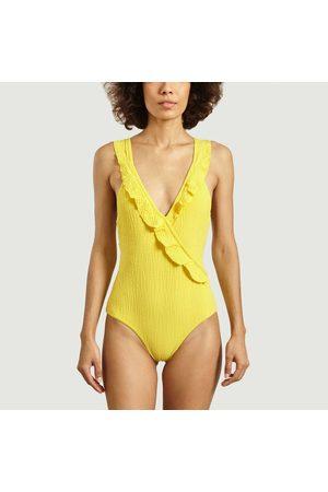 Albertine One-piece swimsuit Pina palms BAMBOO