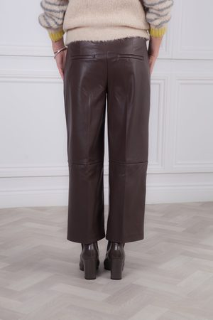 Mac Light Chocolate Chiara Faux Leather Culotte
