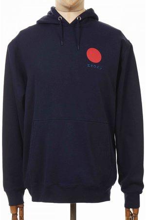 Edwin Jeans Japanese Sun Hooded Sweatshirt - Navy Blazer Colour: Navy