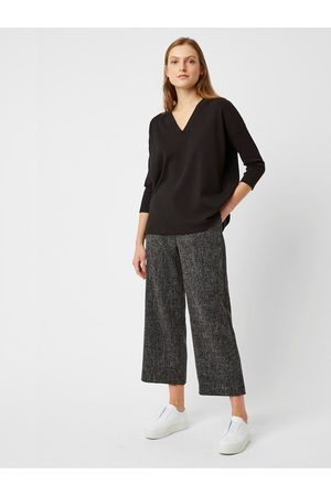 Great Plains Modern Tweed Trousers in Black Multi
