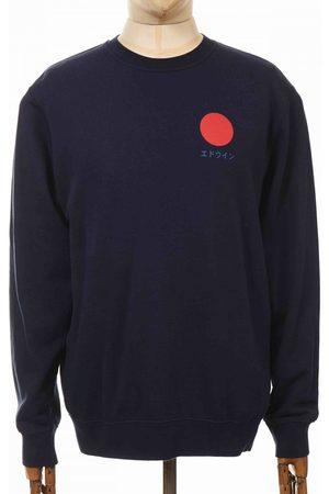 Edwin Jeans Japanese Sun Sweatshirt - Navy Blazer Colour: Navy Blazer