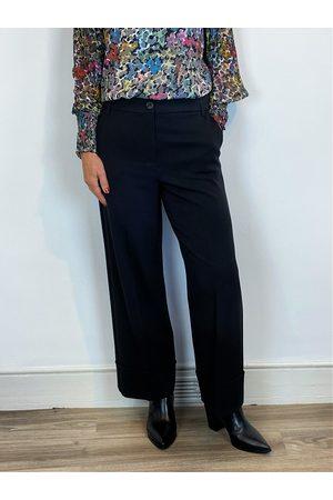 Emme Marella Gervaso Cuffed Crop Pants Black