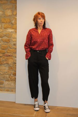 TRANSIT PAR-SUCH Out of the Ordinary Trousers in Black