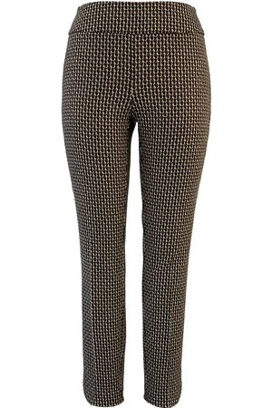 "Up Pants 67030 Techno 28"" Leg Petal Slit Ankle Trousers - Optic"