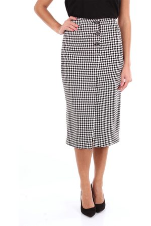 TELA Canvas two-tone knee length skirt with slit