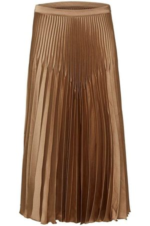 Selected Harmony Pleated Satin Midi Skirt