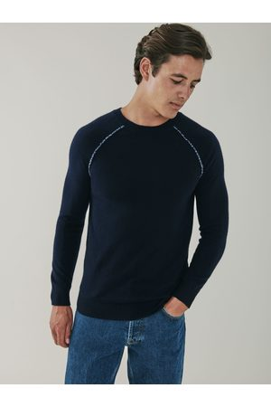MrQuintessential Sloane Detail Cashmere Sweater - Navy