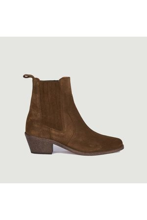 ANTHOLOGY PARIS Sofia suede leather boots Tabac 409