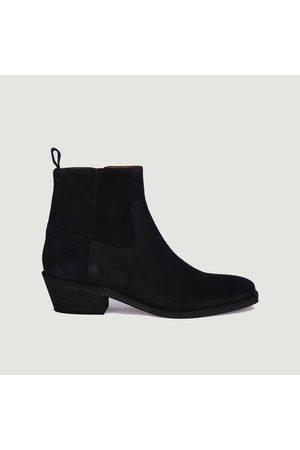 ANTHOLOGY PARIS Winona suede leather boots Daim noir