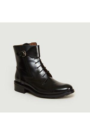 ANTHOLOGY PARIS 7350 Buckle Boots Polido Noir