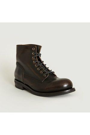 Buttero Lace Up Boots Tbone Ebony