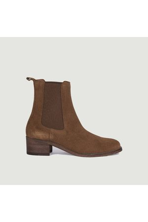 ANTHOLOGY PARIS 7456 suede leather chelsea boots Tabac 409