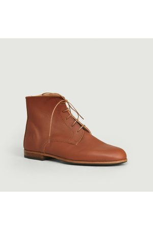 La Botte Gardiane Full grain calf leather Albert boots Cognac