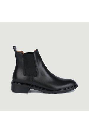 ANTHOLOGY PARIS 7226 leather chelsea boots Princesse noir