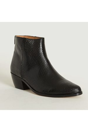 ANTHOLOGY PARIS Telma Boots Python Noir