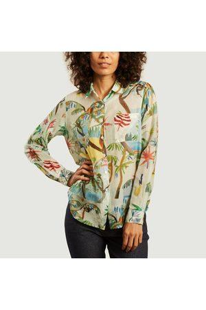 G.KERO Dans les arbres cotton silk shirt Multicolor