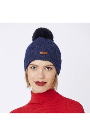 Jayley Wool hat w faux fur pom, Title:
