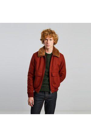 L'Exception Paris Virgin wool aviator jacket Rouille