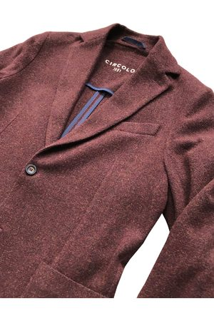 Circolo 1901 - Burgundy Wool and Cashmere Stretch Jacket CN2881