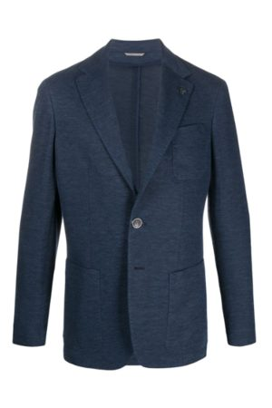 CANALI Slim Fit Jersey Blazer in Dark