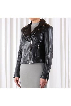 Rino and Pelle Ghost leather biker jacket, Colour: