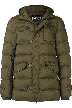 HERNO Feather Down Padded Coat Military
