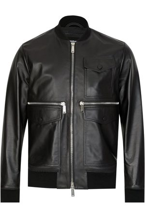 Dsquared2 Multi Pocket Zipped Leather Jacket