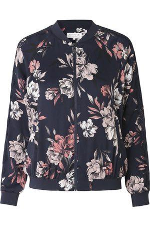Rosemunde Women Bomber Jackets - Bomber Jacket - Navy Spring Blossom Print