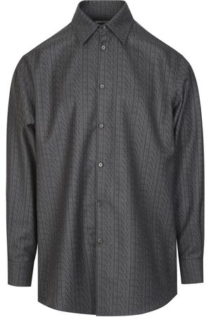 VALENTINO Long-Sleeved Shirt With All-Over VLTN TIMES Print