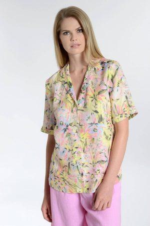 OUTLET 120% Linen Tropical Short Sleeve Shirt Colour: Multi
