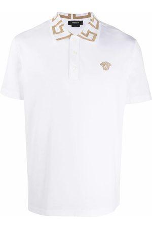 VERSACE Men Polo Shirts - MEN'S A87402A231240A1001 COTTON POLO SHIRT