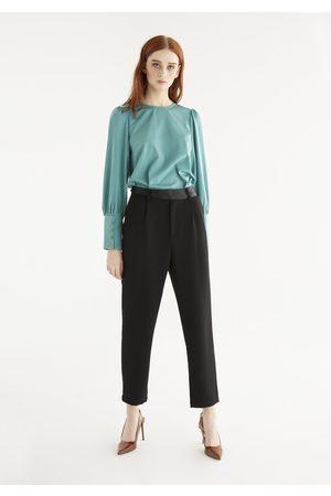 Paisie Women Pants - Elle Contrast Belt Trousers