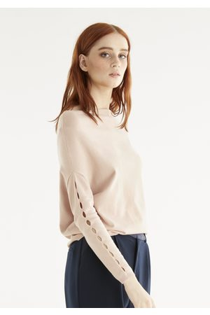 Paisie Zoey Off Shoulder Knitted Top