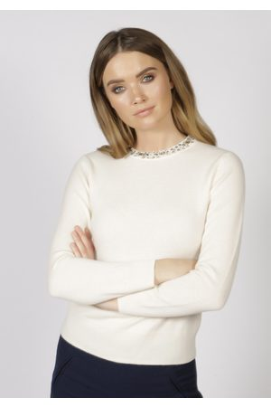 Adeela Salehjee Women Sweaters - Oslo Cashmere Crew Neck Jumper, Product Colour: Natural