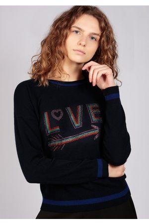 Adeela Salehjee Love Navy Sweater