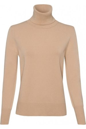 Riani Women Polo Shirts - Long Sleeved Camel Polo Necked Jumper 807620/7673