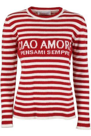 GIADA BENINCASA Women Sweaters - CIAO AMORE WOOL SWEATER IN RED