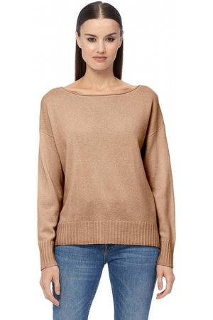 360CASHMERE Sadie Relaxed Boat Neck Knit Colour: Llama