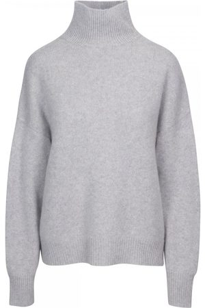 360CASHMERE Leia Relaxed Roll Neck Knit Colour: Light Heather Grey, S