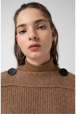 Loreak Mendian Eiti Camel Button Detail Sweater