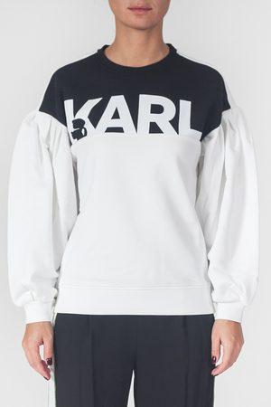 Karl Lagerfeld Felpa con maniche a sbuffo