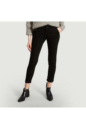 REIKO Women Chinos - Sandy Chino Trousers Noir