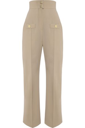 George Keburia Women Jeans - Sand Trousers