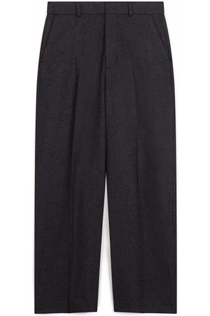 Leon & Harper Pantin Plain Trousers Anthracite Grey